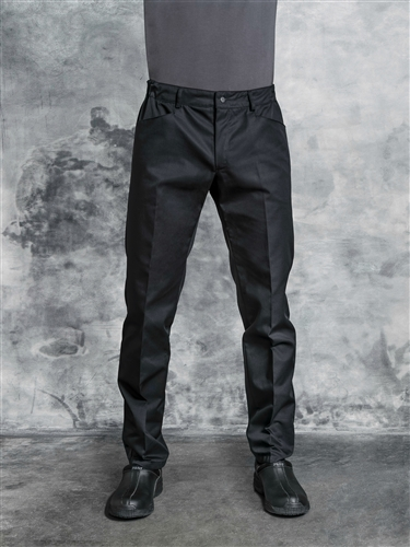 Eliseos unisex Chef Pant in solid black