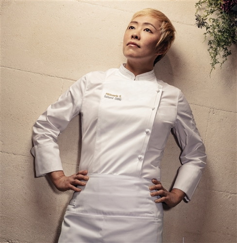 Emotion women fitted Executive Chef jacket white