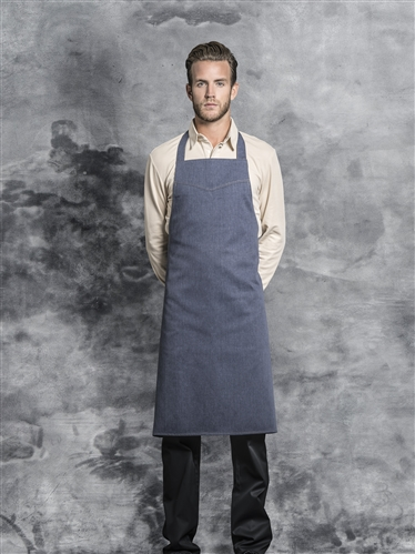 Iowa bib apron denim with adjustable neck strapp