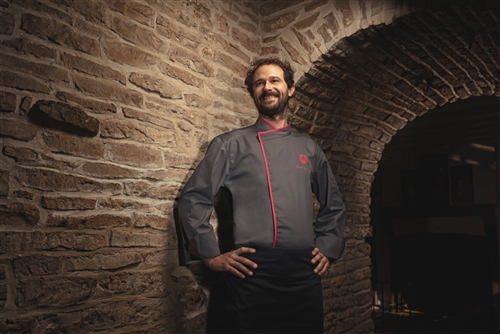 Murano classic Chef jacket charcoal grey long or short sleeves