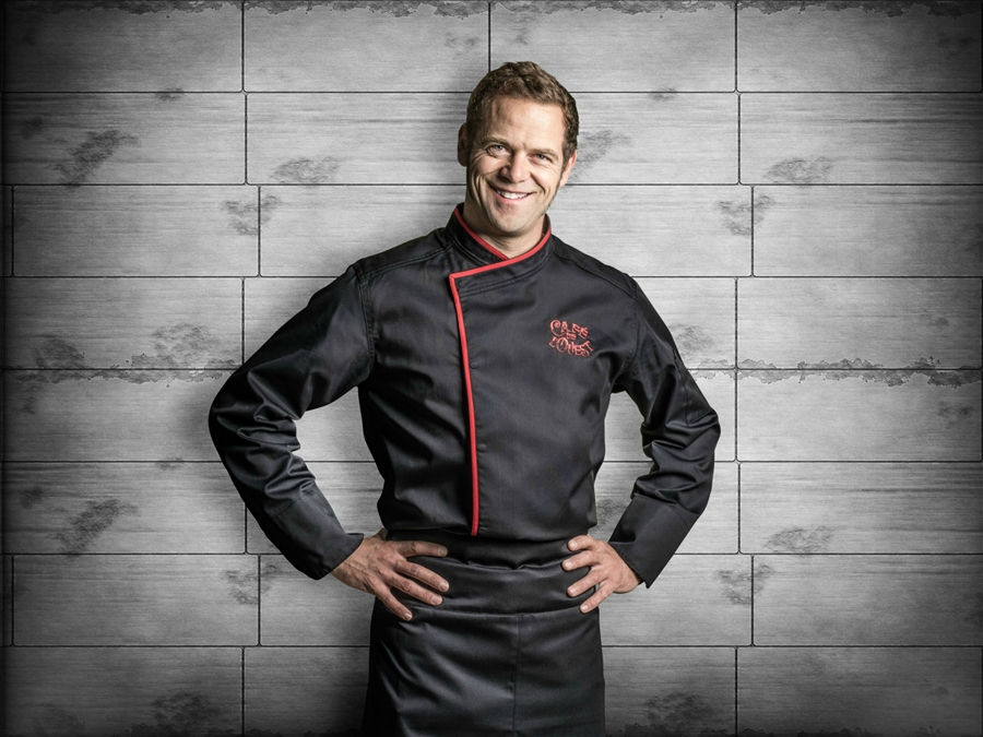 Murano classic Chef jacket black long or short sleeves