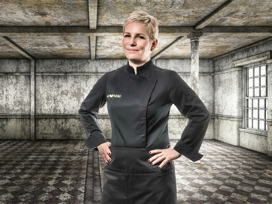 Sienne classic women fitted Chef jacket black