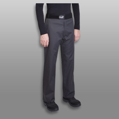 Sirocco men fitted Chef pant charcoal grey with I-BELT