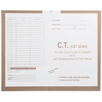 Radiology Insert Jackets, C.T. Scan, Open Top, 14-1/4 H x 17-1/2 W, 250/BX