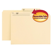Smead Reversible File Folder, 1/2-Cut Printed Tab, Letter, Manila 100/Bx (10145)