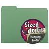 Smead Interior File Folder, 1/3-Cut Tab, Letter Size, Green, (10247)