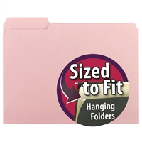 Smead Interior File Folder, 1/3-Cut Tab, Letter Size, Pink, (10263)