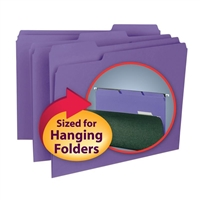 Smead Interior File Folder, 1/3-Cut Tab, Letter Size, Purple, (10283)
