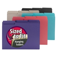 Smead Interior File Folder, 1/3-Cut Tab, Letter Size, Assorted (10295)