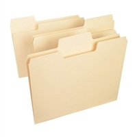 Smead SuperTab File Folder, 1/3 Tab, Letter, Manila, 100/Box (10301)