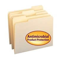 Smead File Folder Antimicrobial protection, Letter, Manila (10338)