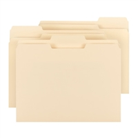 Smead 100% Recycled File Folders, 1/3-Cut Tab, Letter, Manila (10339)