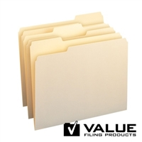 11pt Top Tab Manila Folder, 1/3-Cut, Letter Size, No Fastener, 100/Bx (10346)