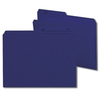 Smead Reversible File Folder, 1/2-Cut Printed Tab, Letter, Navy, 100/Bx (10362)