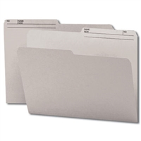 Smead Reversible File Folder, 1/2-Cut Printed Tab, Letter, Gray, 100/Bx (10363)