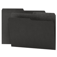 Smead Reversible File Folder, 1/2-Cut Printed Tab, Letter, Black, 100/Bx (10364)