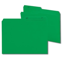 Smead Reversible File Folder, 1/2-Cut Printed Tab, Letter, Dark Green, 100/Bx (10367)
