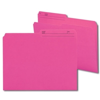 Smead Reversible File Folder, 1/2-Cut Printed Tab, Letter, Dark Pink, 100/Bx (10368)