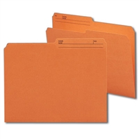 Smead Reversible File Folder, 1/2-Cut Printed Tab, Letter, Orange, 100/Bx (10370)