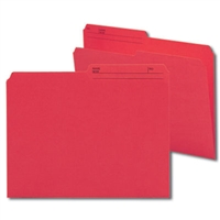 Smead Reversible File Folder, 1/2-Cut Printed Tab, Letter, Red, 100/Bx (10372)