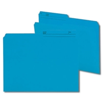 Smead Reversible File Folder, 1/2-Cut Printed Tab, Letter, Sky Blue, 100/Bx (10373)