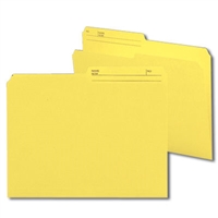 Smead Reversible File Folder, 1/2-Cut Printed Tab, Letter, Yellow, 100/Bx (10374)