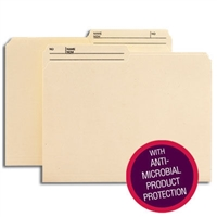 Smead Reversible File Folder w/ Antimicrobial Product Protection, 100/Bx (10377)