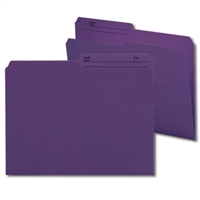 Smead Reversible File Folder, 1/2-Cut Printed Tab, Letter, Purple, 100/Bx (10378)