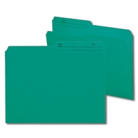 Smead Reversible File Folder, 1/2-Cut Printed Tab, Letter, Teal, 100/Bx (10379)