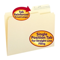 Smead Manila Folders with Reinforced Tab (10388) Box of 100