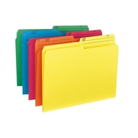 Smead Colored Folders with Reversible Tab (10391) Pack of 10