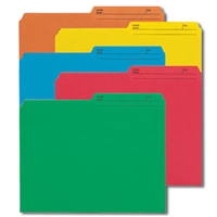 Smead Reversible File Folder, 1/2-Cut Printed Tab, Letter, Assorted Colors 50/Bx (10394)