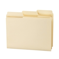 Smead SuperTab File Folder, 1/3 Guide Height, Manila, 100/Box (10395)