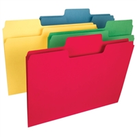 Smead SuperTab Heavyweight Folders, 1/3 Tab, Assorted, 50/Box (10410)