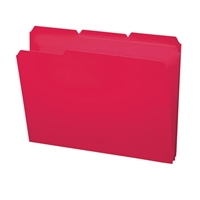 Smead Poly Colored File Folders, Letter, Red (10501)