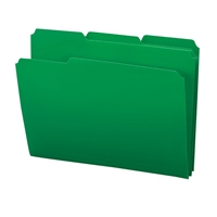 Smead Poly Colored File Folders, Letter, Green (10502)