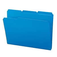 Smead Poly Colored File Folders, Letter, Blue (10503)