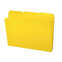 Smead Poly Colored File Folders, Letter, Yellow (10504)