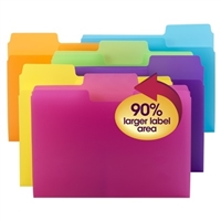 Smead SuperTab Poly File Folder, 1/3-Cut tab, Letter Size, 18/Pk (10515)