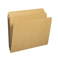 Smead File Folder, Reinforced Straight-Cut Tab, Letter, Kraft (10710)