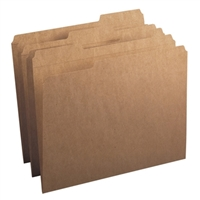 Smead Folder, Reinforced 1/3-Cut Tab, Letter Size, Kraft (10734)