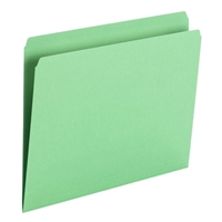 Smead File Folder, Straight Cut, Letter Size, Green, 100/Bx (10939)