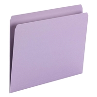Smead File Folder, Straight Cut, Letter Size, Lavender, 100/Bx (10940)