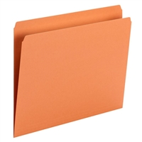 Smead File Folder, Straight Cut, Letter Size, Orange, 100/Bx (10941)