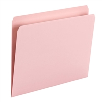 Smead File Folder, Straight Cut, Letter Size, Pink, 100/Bx (10942)