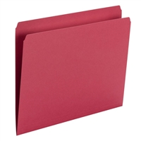 Smead File Folder, Straight Cut, Letter Size, Red, 100/Bx (10943)