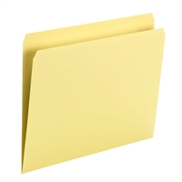 Smead File Folder, Straight Cut, Letter Size, Yellow, 100/Bx (10946)