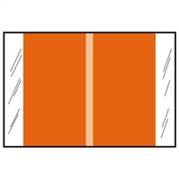 Col R Tab 11000 Series Designation Label, Light Orange, 500/Roll