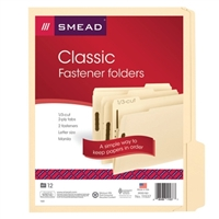 Smead Manila Fastener Folders with Reinforced Tab (11537)