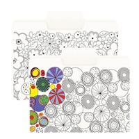 Smead SuperTab Coloring Folders, Letter, 6/Pack (11647)